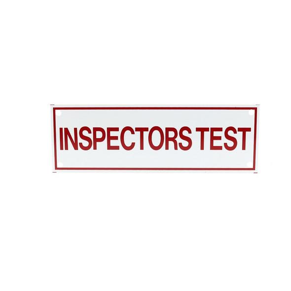 Inspectors Test Vinyl Sticker Sign
