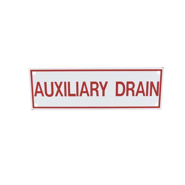 Auxiliary Drain Vinyl Sign