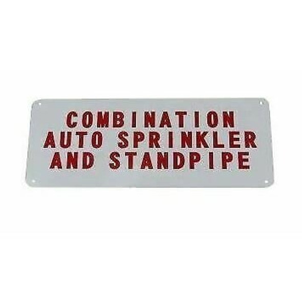 """Auto Sprinkler - Standpipe Sign, Aluminum, 12"""" x 6"""""""