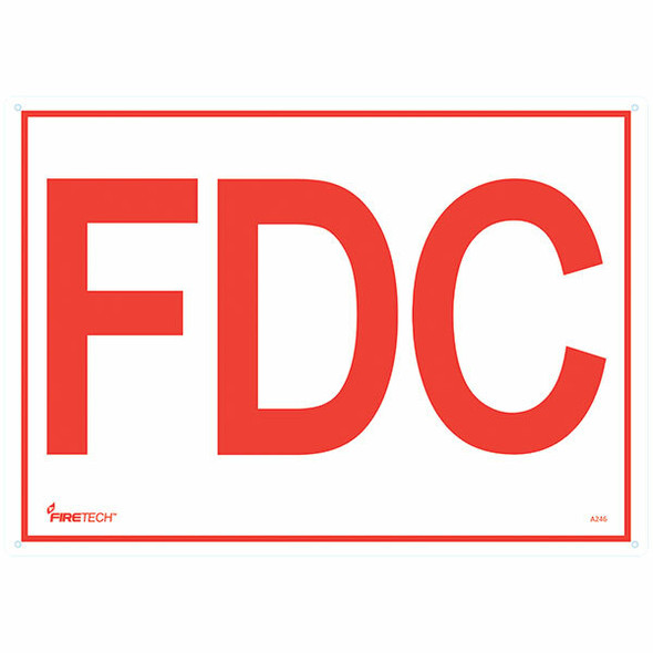 """""""FDC"""" Sign, 6"""" Letters, Aluminum, 10"""" x 14"""""""