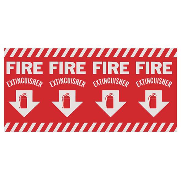 Wraparound Fire Extinguisher Arrow Sign