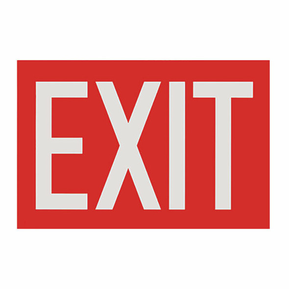 """""""Exit"""" Sign, Red Background, Vinyl Sticker, Decal 12"""" x 8"""""""