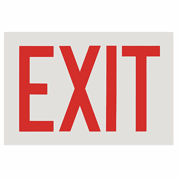 """Exit"" Sign, White Background, Vinyl Sticker, Decal 12"" x8"""