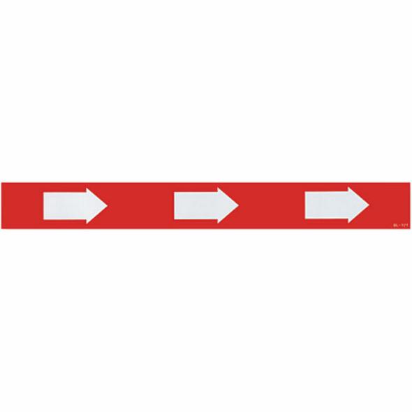"Directional Arrow Sign, Vinyl Sticker, Decal 12"" x 1 1/2"""