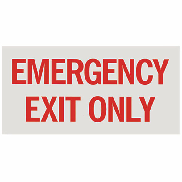 """""""Emergency Exit Only"""" Sign, Vinyl Sticker, Decal 12"""" x 6"""""""