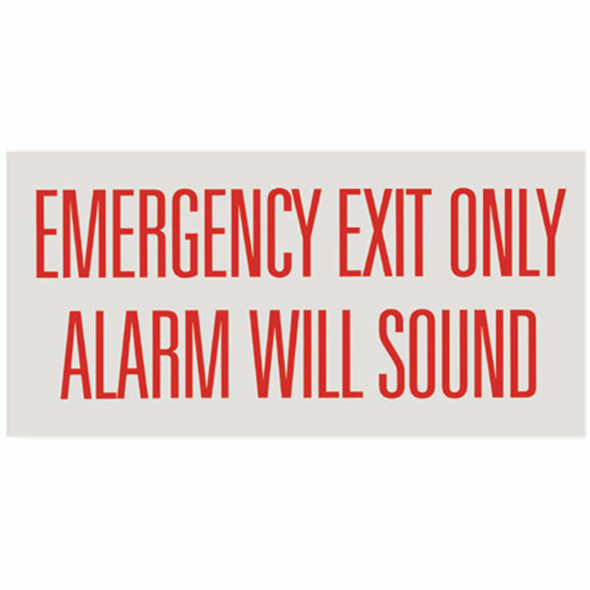 """""""Emergency Exit Only, Alarm"""" Sign, Vinyl Sticker, Decal 12"""" x 6"""""""