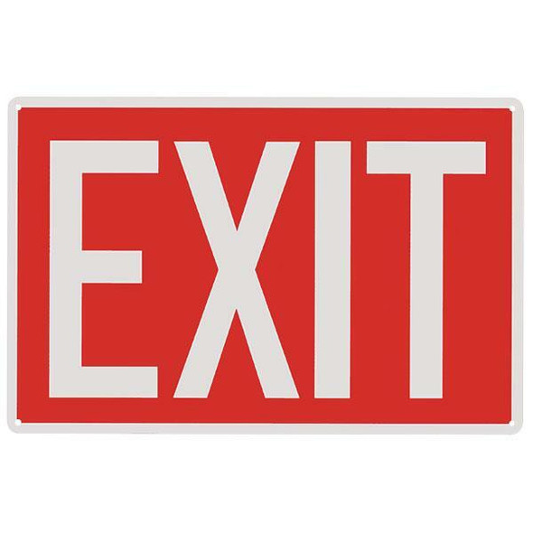 """Exit"" Sign, Aluminum, 12"" x 8"""