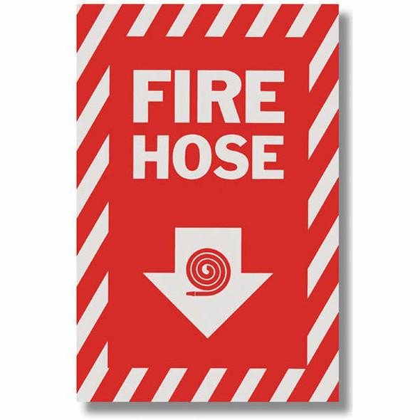 """""""Fire Hose"""" Arrow Sign, Vinyl Sticker, Decal 8"""" x12"""""""