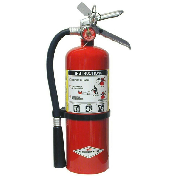 Amerex B402 Fire Extinguisher, ABC, 5lb, 3A40BC, With Wall Bracket.  MPN 15280