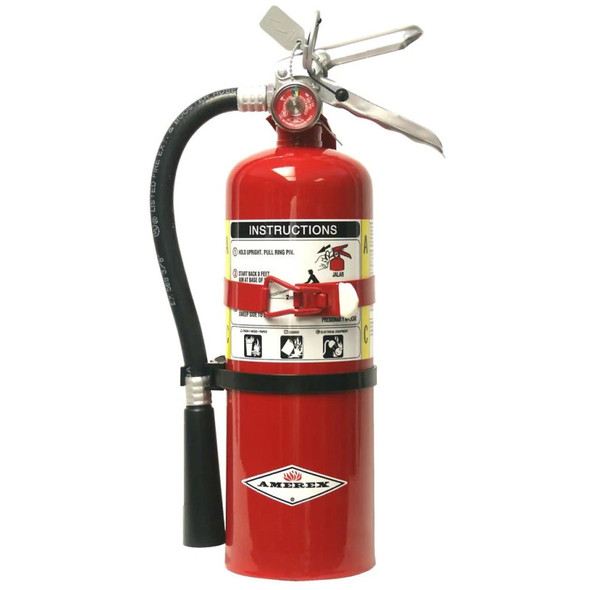Amerex B402T Fire Extinguisher, ABC, 5lb, 3A40BC, With Vehicle Bracket Manufacturer Part Number: 15281