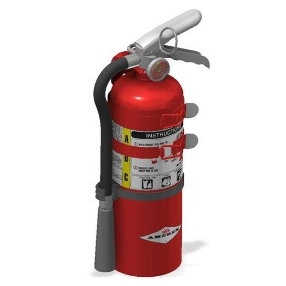 Amerex B500TS Fire Extinguisher, ABC, 5lb, 2A10BC, With 2 Strap Vehicle Bracket Manufacturer Part Number: 15307
