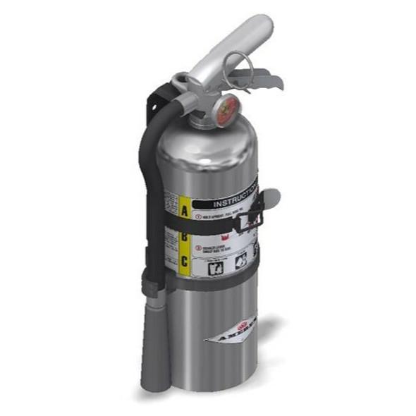 Amerex B500TC Chrome Fire Extinguisher, ABC, 5lb, 2A10BC, With Vehicle Bracket Manufacturer Part Number: 15849