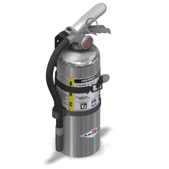 Amerex B402TC Chrome Fire Extinguisher, ABC, 5lb, 3A40BC, With Vehicle Bracket Manufacturer Part Number: 15914