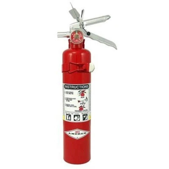 Amerex B417T Fire Extinguisher, ABC, 2.5lb, 1A10BC, With Vehicle Bracket Manufacturer Part Number: 15217