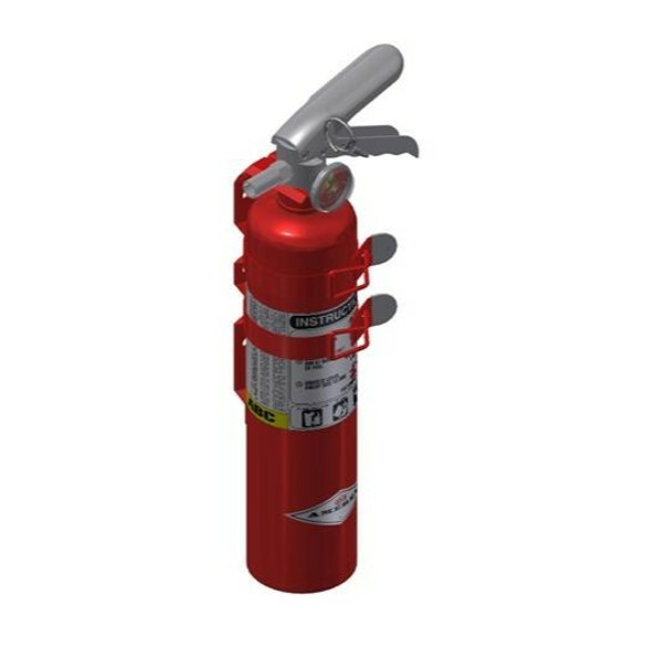 Amerex B417TS Fire Extinguisher, ABC, 2.5lb, 1A10BC, With 2 Strap Vehicle Bracket Manufacturer Part Number: 15230