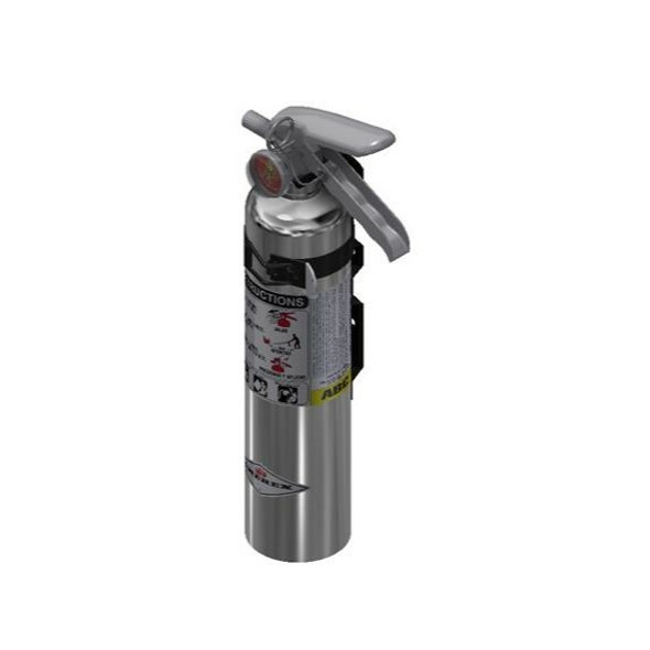 Amerex B417TC Chrome Fire Extinguisher, ABC, 2.5lb, 1A10BC, With Vehicle Bracket Manufacturer Part Number: 15254