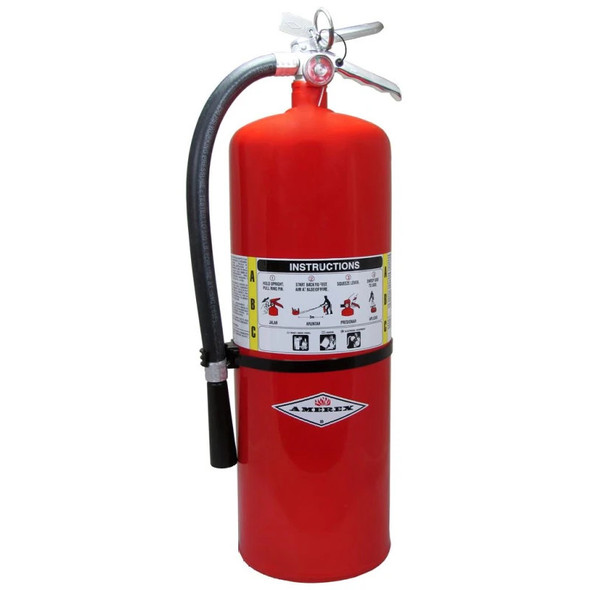 Amerex A411 Fire Extinguisher, ABC, 20lb, 10A120BC With Wall Bracket Manufacturer Part Number: 11213