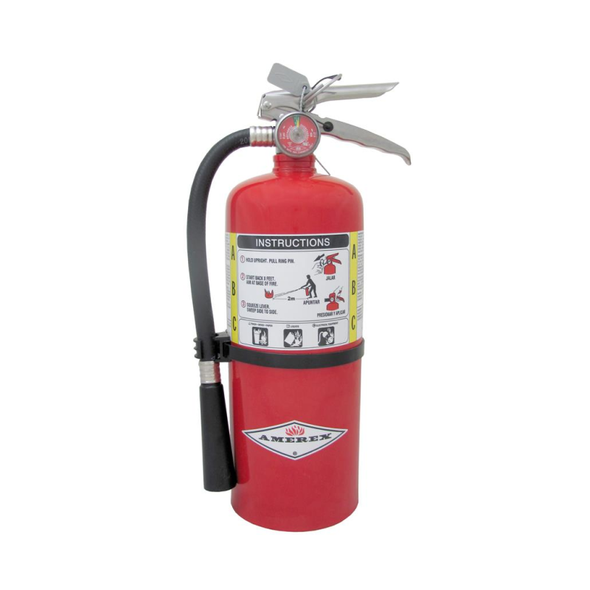 Amerex B461 Fire Extinguisher With Brass Valve, ABC, 6lb, 3A40BC, With Wall Bracket Manufacturer Part Number: 15386