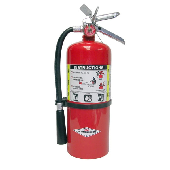 Amerex B443 Fire Extinguisher, ABC, 6lb, 3A40BC, With Wall Bracket Manufacturer Part Number: 15393