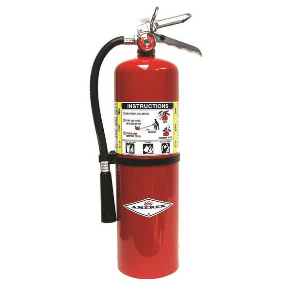 Amerex B456 Fire Extinguisher, ABC, 10lb, 4A80BC With Wall Bracket Manufacturer Part Number: 14967