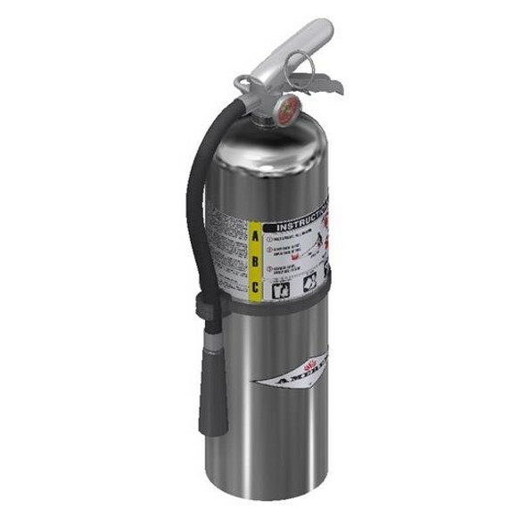 Amerex B456C Chrome Fire Extinguisher, ABC, 10lb, 4A80BC With Wall Bracket Manufacturer Part Number: 15576