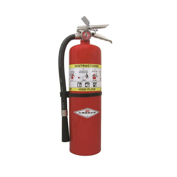 Amerex 720 High Flow Fire Extinguisher, ABC, 10lb, 1A20BC With Wall Bracket Manufacturer Part Number: 20895