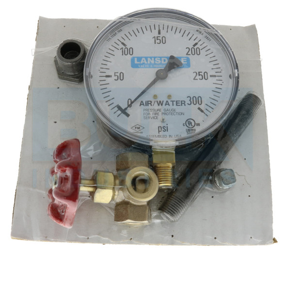 Air/Water Gauge Kit, 0-300 PSI, Plastic, UL/FM Approved Manufacturer Part Number: GAAWP350