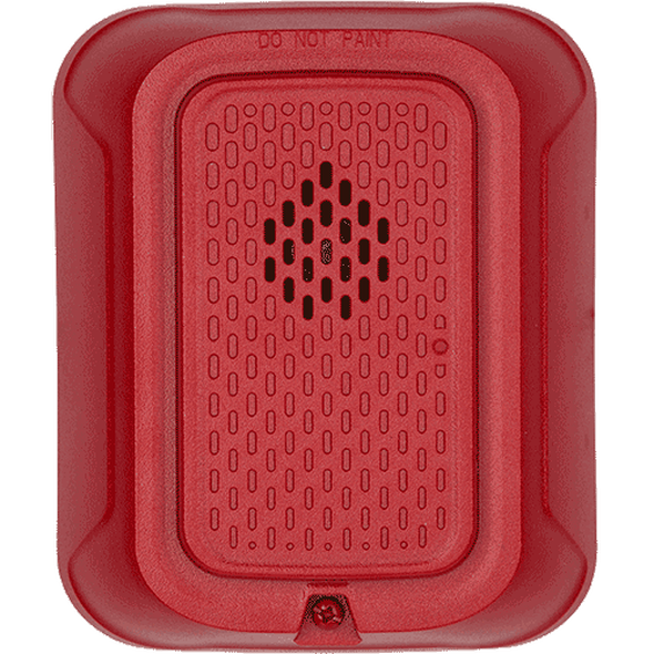System Sensor HRL L-Series Standard Wall Horn, Red, Plain No Marking