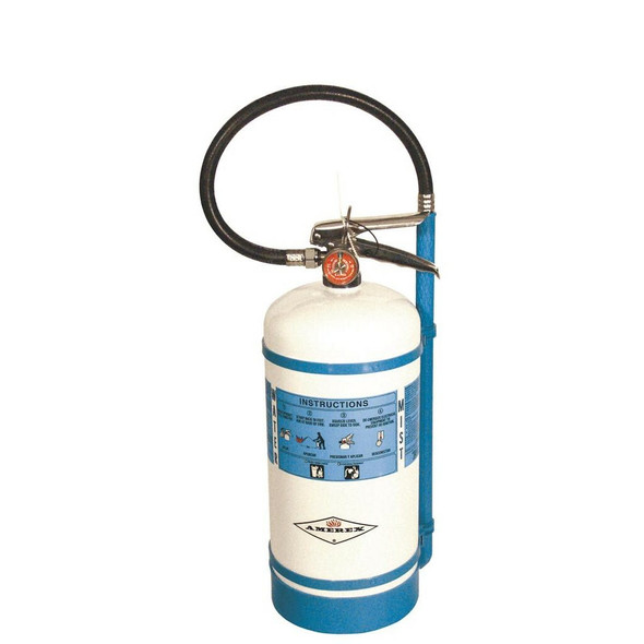 Amerex B270 Fire Extinguisher, Water Mist, 1.5, 2AC, With Wall Bracket (Sold charged. Includes de-ionized water)