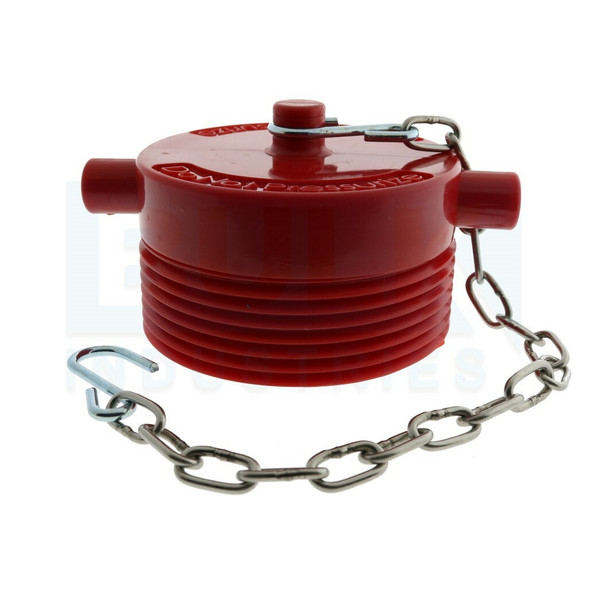 """Fire Department Connection FDC Plug With Chain, Plastic, 3"""" NST"""
