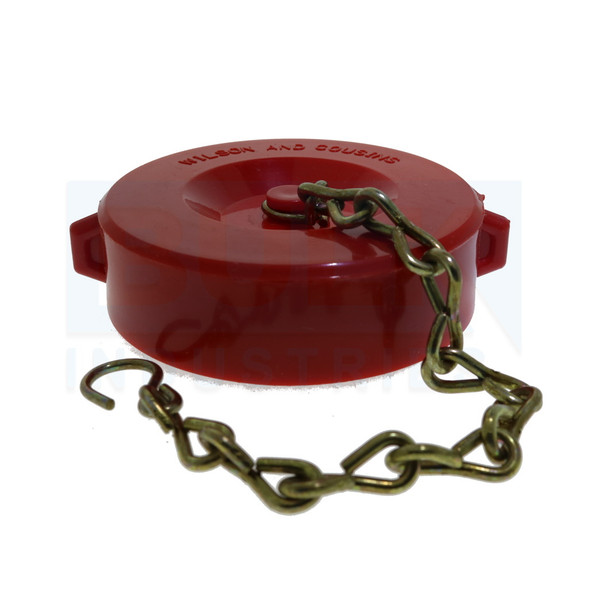 "Fire Hose Valve Standpipe Cap & Chain, 2 1/2"", Plastic, NST"