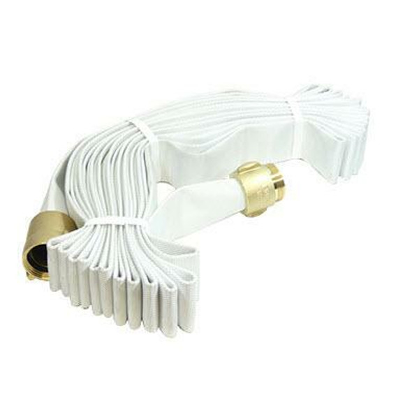 """1 1/2"""" Fire Hose - Rack & Reel Hose With Brass Coupling, NST - Available In Multiple Lengths"""
