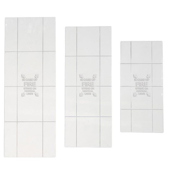 JL Extinguisher Cabinet Replacement Scored Acrylic Face - Available In Multiple Sizes