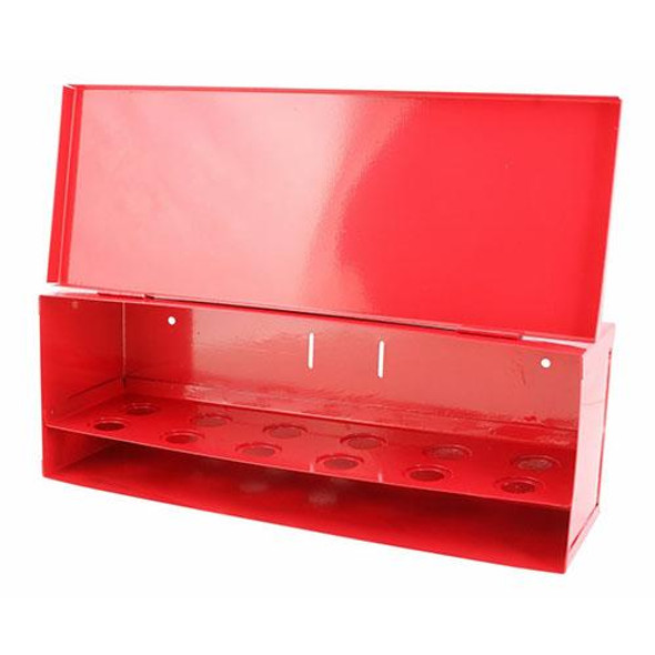 Fire Sprinkler Spare Head Box, 12 Head, Red