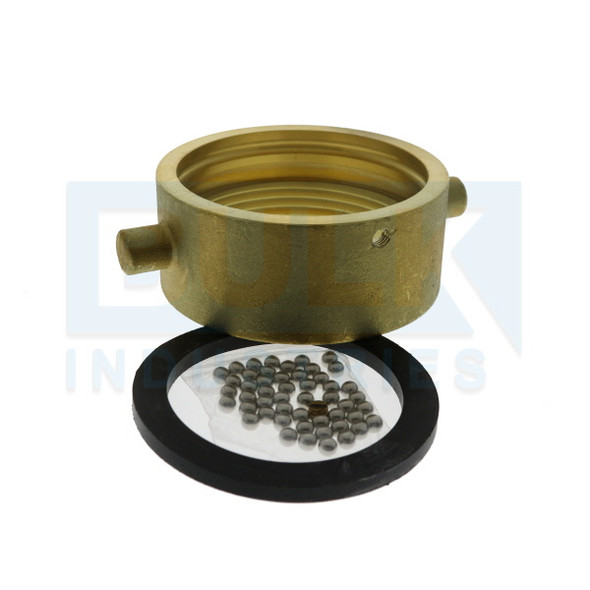 """Fire Department Connection FDC Replacement Coupling Swivel Kit, Brass, 2 1/2"""" NST"""