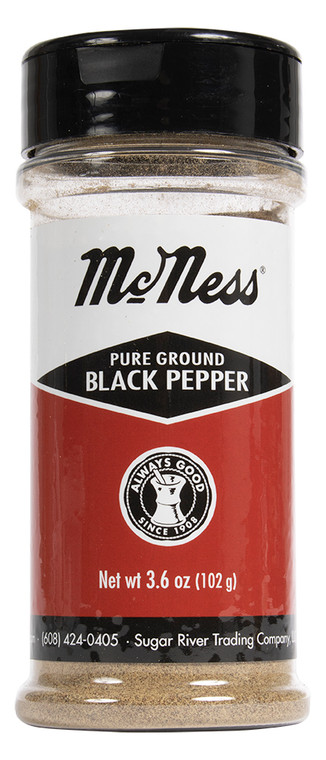 The classic McNess pepper, finely ground, big flavor. Now in new size.