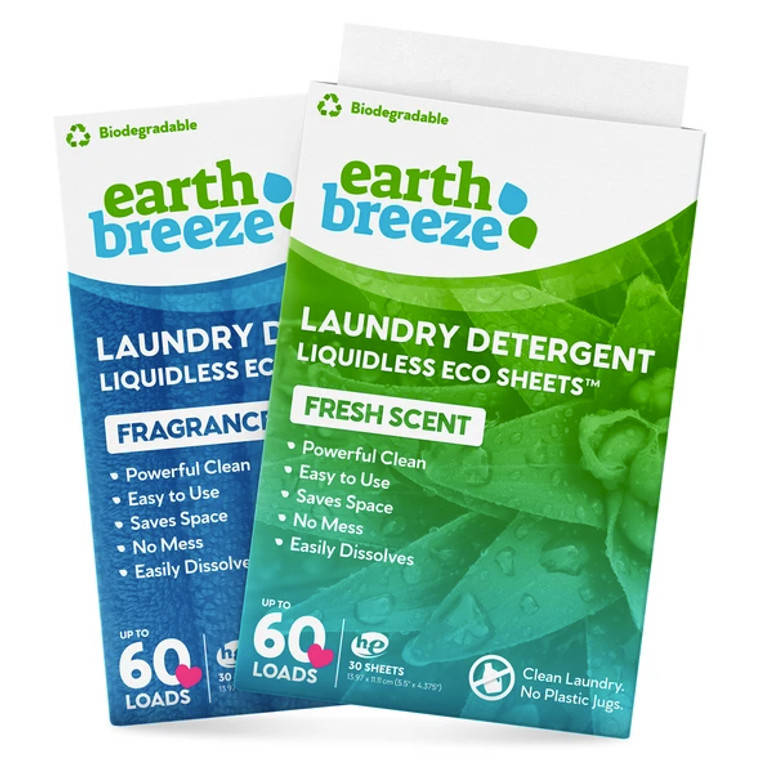 NEW! Earth Breeze Laundry Detergent Sheets