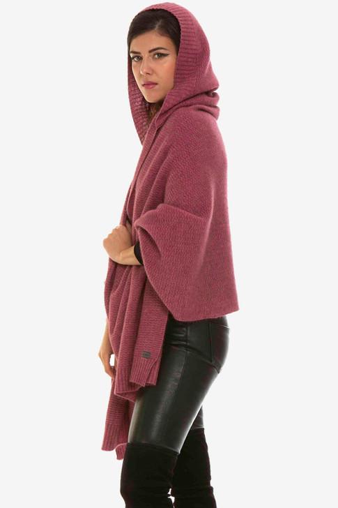 Hooded Possum Merino Wool Silk Wrap KORU