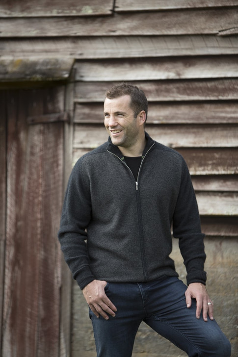 Marl Full Zip Jacket model