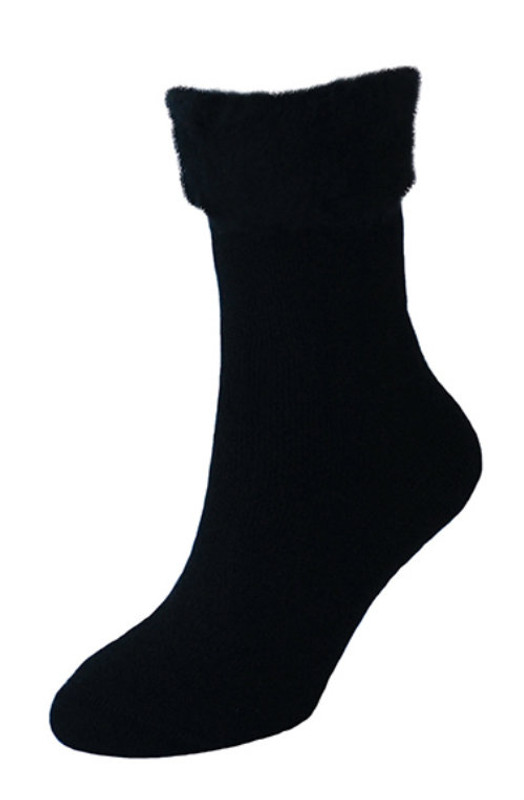 NZ Made Bed Sock Plain, colour Black
