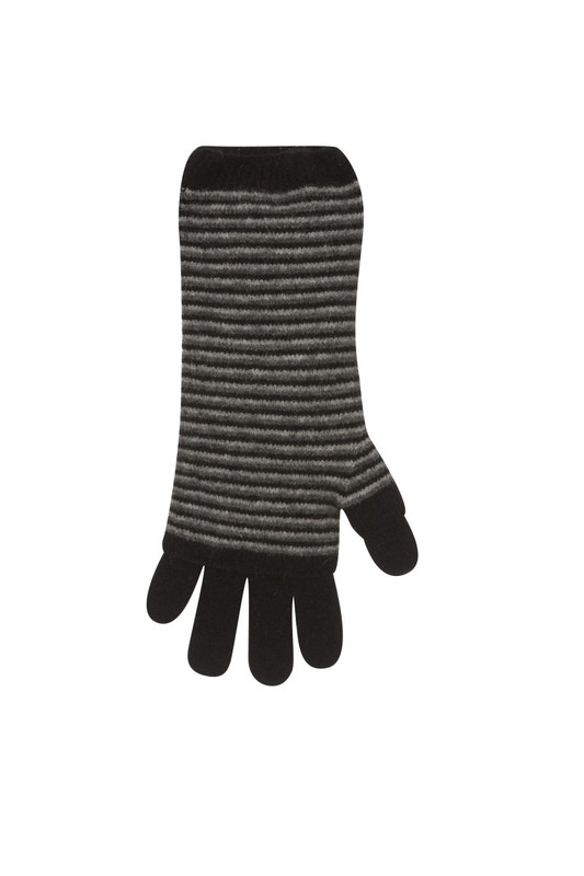 3 Way Glove Possum Merino Wool by Native World NZ in Black