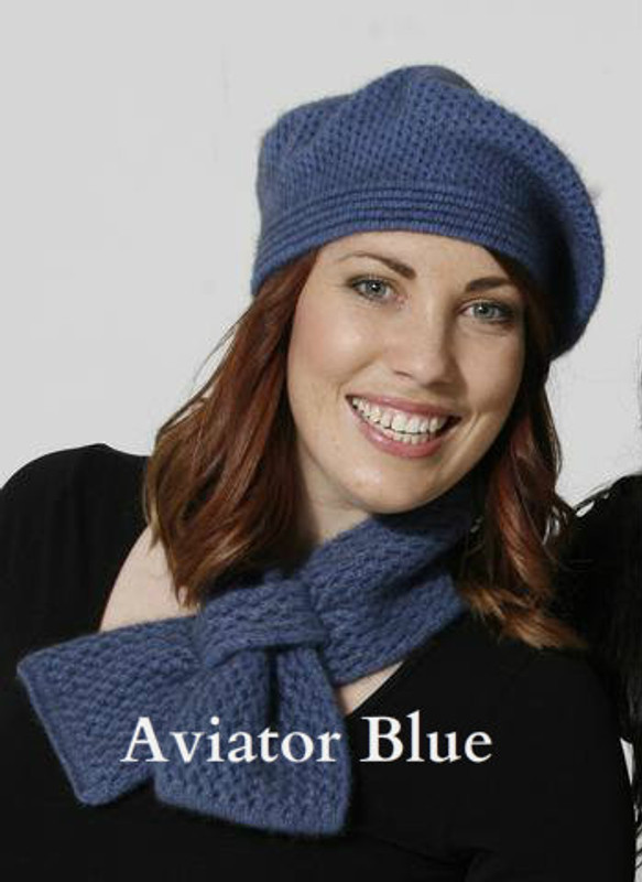 Aviator Blue Crocheted Neck Warmer by possumdown