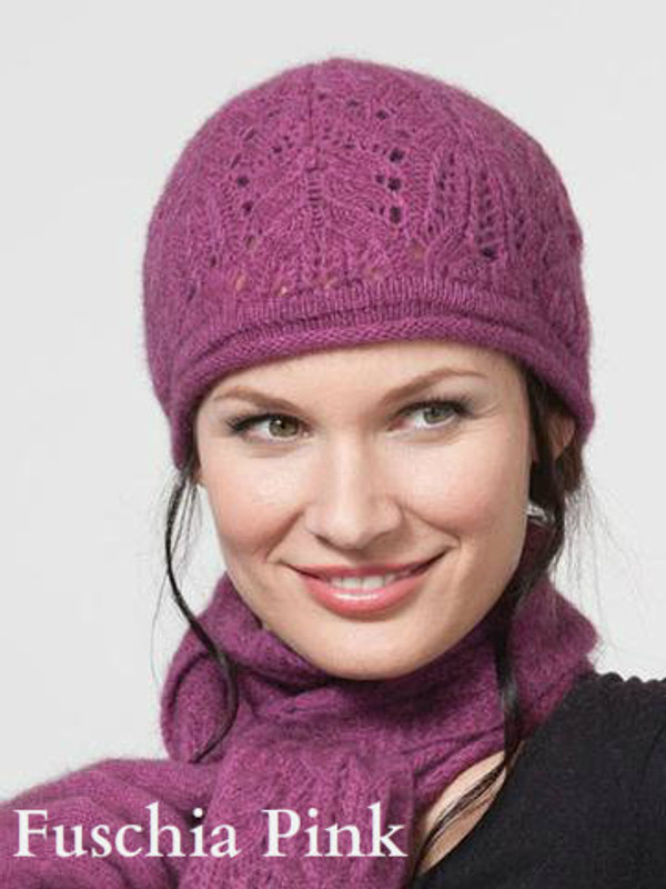 Fushia Pink Chunky Cable Beanie by possumdown
