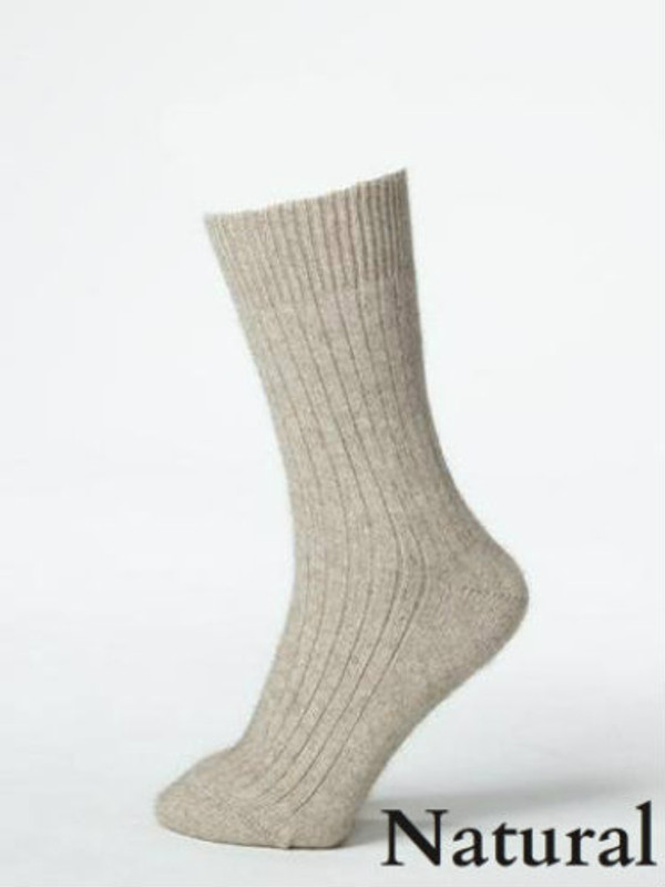 Natural Beige Cabin Mate Sock by possumdown
