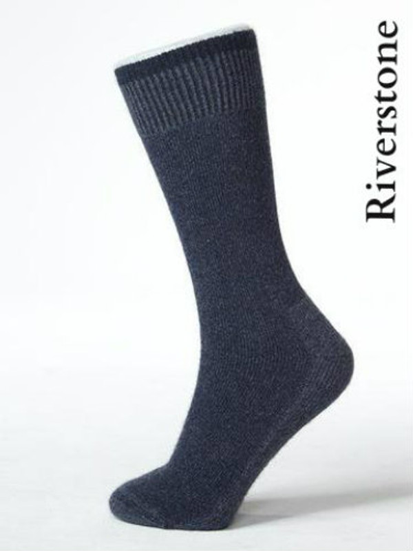 Riverstone Grey Bushman's Friend Sock by Possumdown