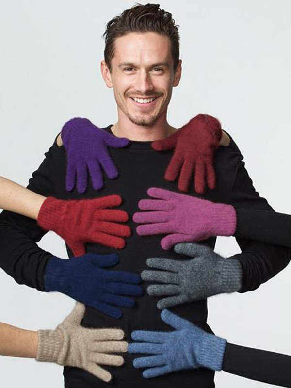 Classic Possum Merino Wool Glove by possumdown in a range of rainbow colours.