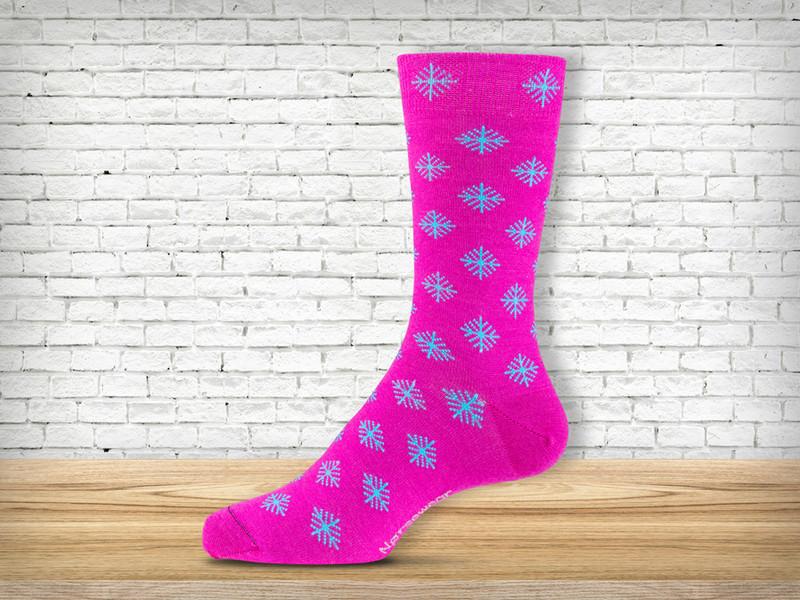 Pink Logo Sock