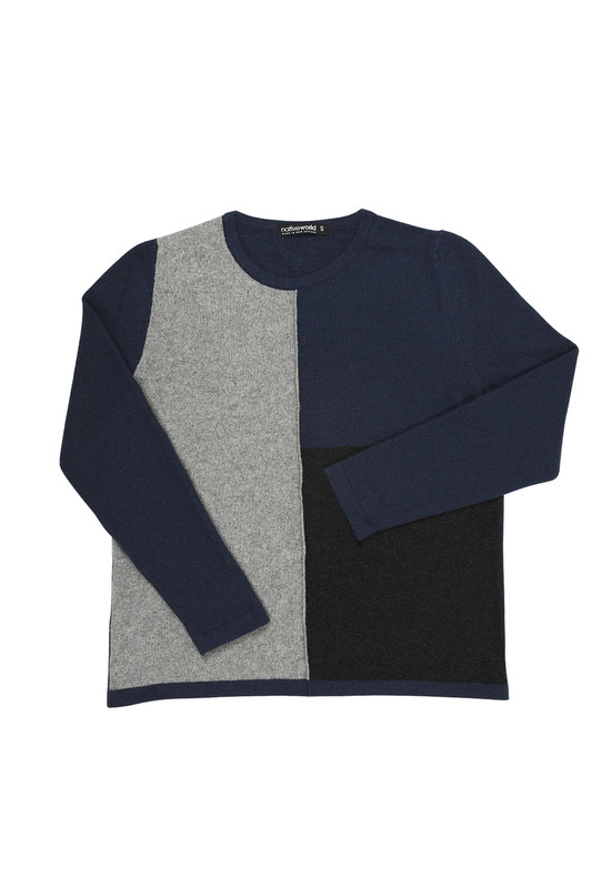 Riviera Blue Block Colour Sweater by Native World