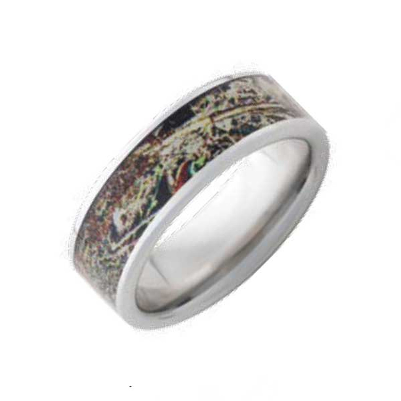 Titanium Camouflage Ring Camo Rings RealTree Max 5 Official 8mm Wide