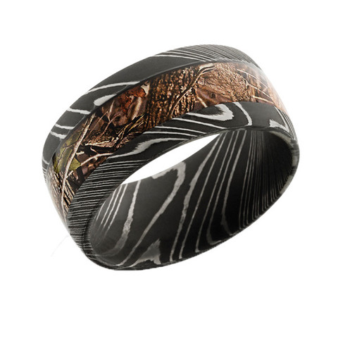 Damascus Steel Camo Ring Free Shipping Camokix